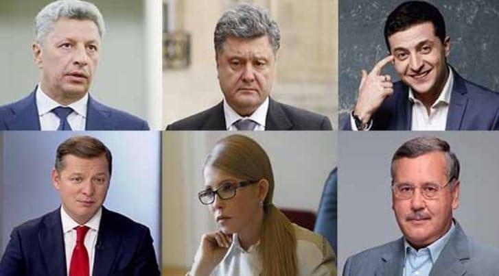Выборы президента в Украине 2019: рейтинг кандидатов